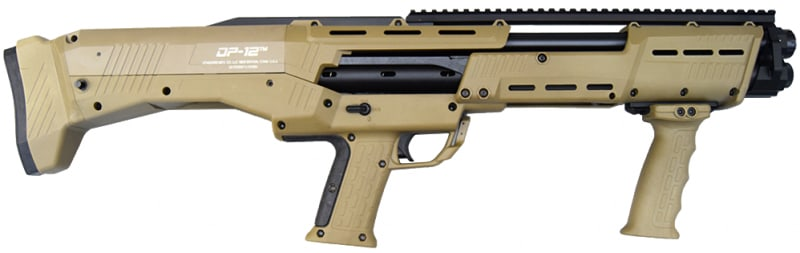 Standard Manufacturing DP12FDE DP-12 - 16 Shot Double Barrel Pump Action 12GA Shotgun - Flat Dark Earth Finish
