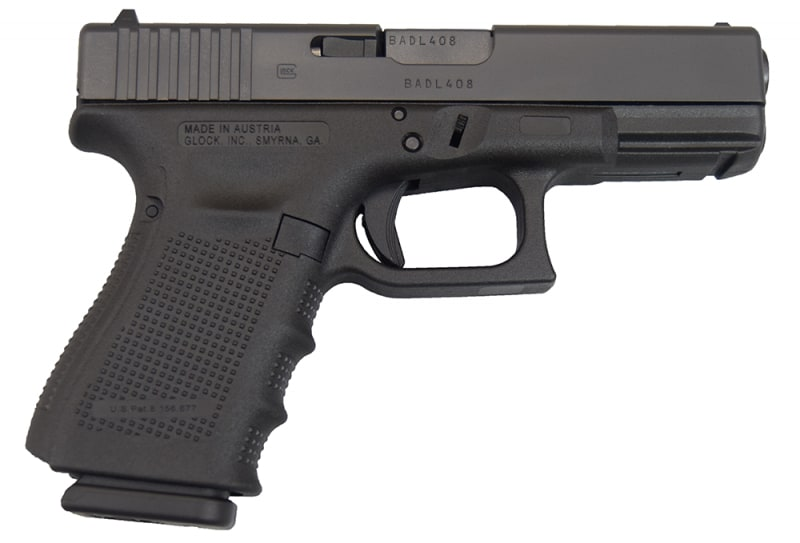 Glock 19 Gen 4 9mm Compact Handgun w/ 3-15rd Mags and Fixed Sights PG1950203