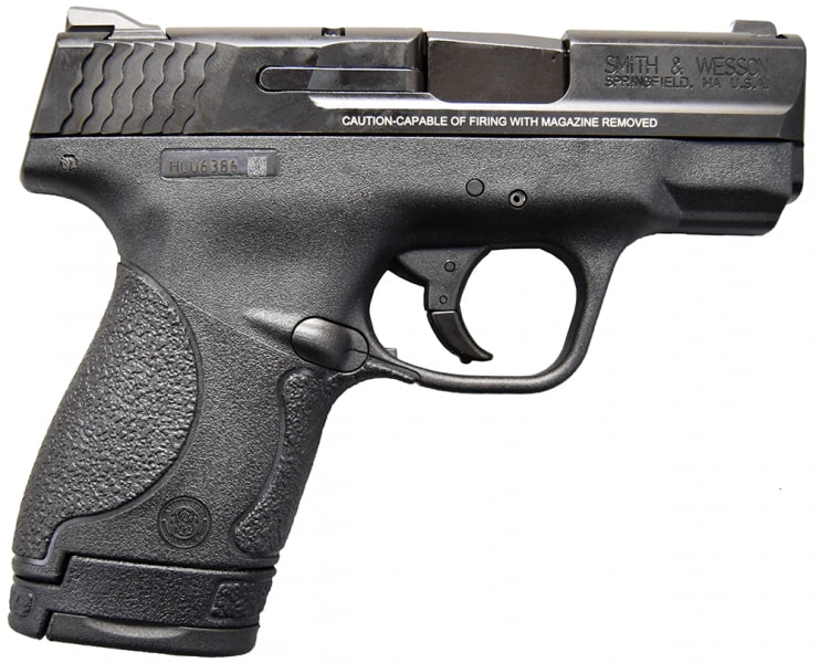 "Smith & Wesson M&P Sheild 9mm 3.1"" BBL, Poly MCR Finish, No Thumb Safety 10035"