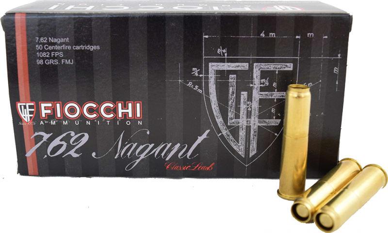 Fiocchi 7.62x38 Nagant 98 GR FMJ Ammo - 50rd Box