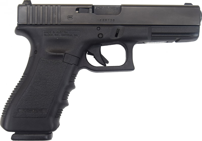 Glock 22 Gen 3, Used Law Enforcement Trade In with Night Sights and 1 Factory 15 Rd Mag - Very Good Condition