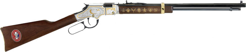 "Henry Golden Boy Eagle Scout Tribute Edition 22 S/L/LR Rifle, 20"" Octagon Blued Steel - H004ES"
