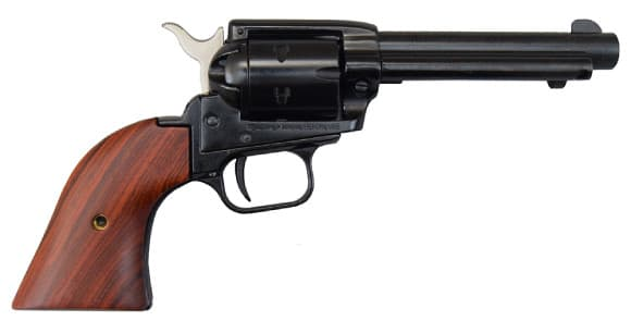 "Heritage Rough Rider Revolver - .22 LR 4.75"" Blued with Wood Grips RR22B4"
