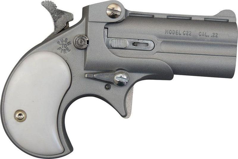 Cobra Derringer .22 L.R. ( .22 Over / Under Satin/Pearl Grips ) C22SP