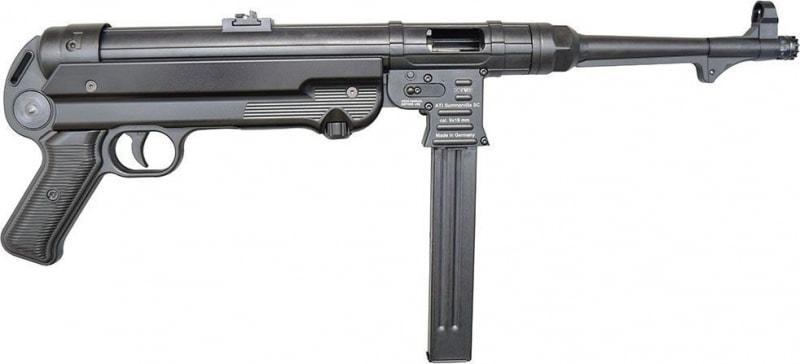 """GSG German Sports Guns GERGMP409X GSG MP-40 Pistol Semi-Automatic 9mm 10"""" Black"""