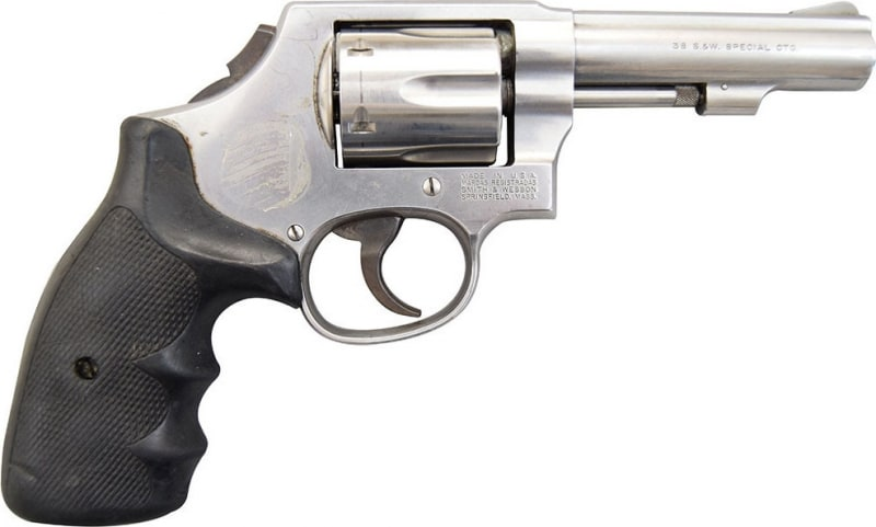"""Smith & Wesson Model 64 LEO Trade-Ins 38 Special 4"""" Stainless DAO Used Good Condition"""