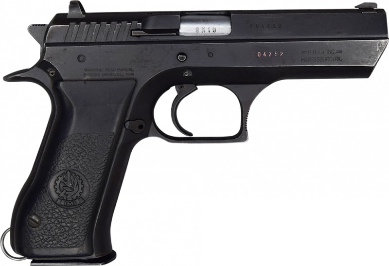 """IMI Jericho 941F 9mm Semi-Auto Pistol 4.5"""" BBL, Blued Or Brushed Steel Finish. 15 Rd, Single Action - Israeli Made - G/VG Surplus Condition -"""