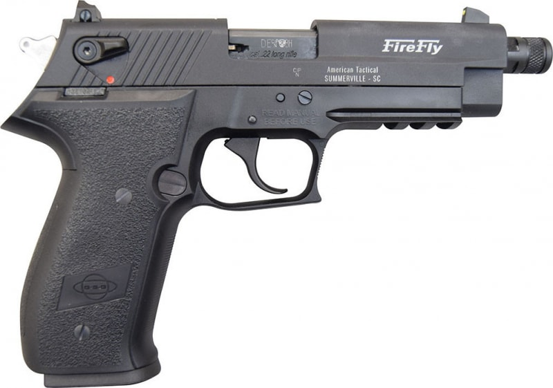 """ATI GSG Firefly Pistol .22LR - 4.9"""", Black, 10rd Capacity, Threaded Barrel - GERF2210TFF"""