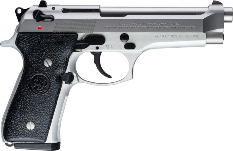 "Beretta JS92F520 92 DA/SA 9mm 4.9"" 10+1 Black Synthetic Grip Stainless Steel"