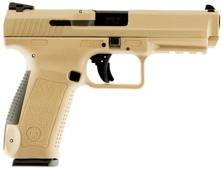 Century Arms TP9SF 9mm Pistol, 10rd Desert Tan Special Forces - HG3790DN