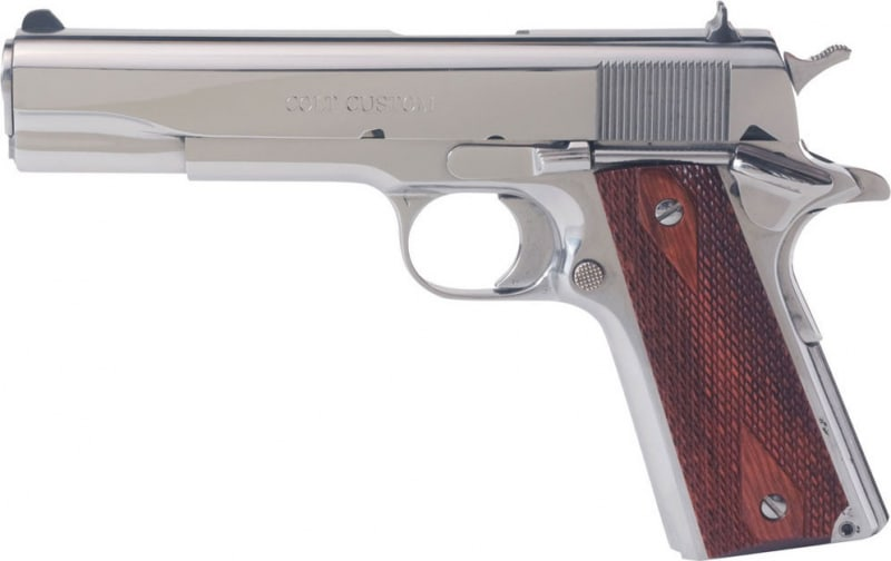 "Colt O1070BSTS Government 45 5"" Bright Stainless Steel"