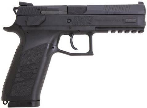 "CZ USA P09 Semi Automatic Pistol 9mm Luger 4.53"" Barrel 19 Rounds Polymer Frame Black Nitride Finish 91620"