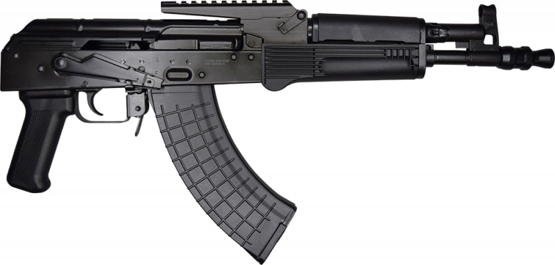 Hellpup Elite, Polish Made AK-47 Pistol W / Built In Optic Rail, Semi-Auto, 7.62x39 - Complete with 4 -30 Rd Mags, Factory New - By Interarms Corporation Radom Poland