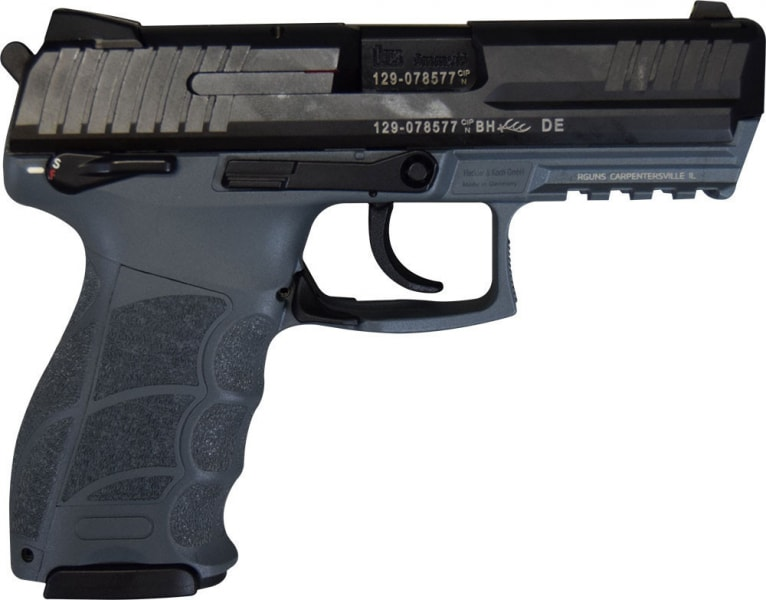 "HK P30S V3 Ambi Safety DA/SA 9mm 3.85"" 15+1 (2) Mags Grey/Black Interchangeable Backstrap"