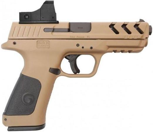 MKE Firearms 390140 Girsan MC28SA ADJ. SGT w/OPTIC15rdFDE Polymer
