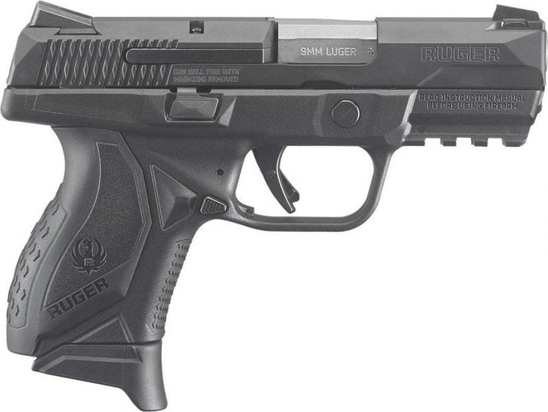 "Ruger 8635 American Double 9mm 3.5"" 17+1/12+1 Black Grip Black Nitride Stainless Steel"