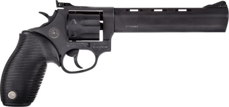 "Taurus 2170061 17 Tracker 17 HMR 6.5"" 7+1 Adj Sight Ribber Grip Overlay Blued"
