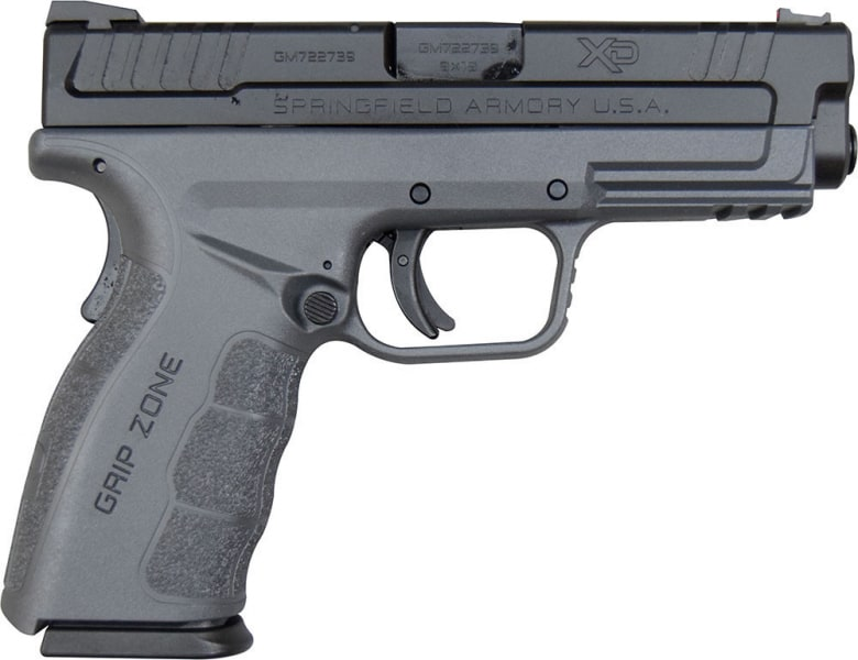 "Springfield XDG9101YHC XD Mod.2, 4"" Service Model, Striker-Fired, 9mm, Grey Polymer Frame, 16+1 Capacity W / 2-16 Round Mags"