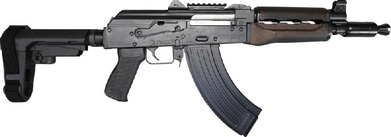 Zastava Arms ZPAP92 Pistol w/ SB Tactical SBA3 Brace 7.62x39 Caliber With 30 Round Magazine.