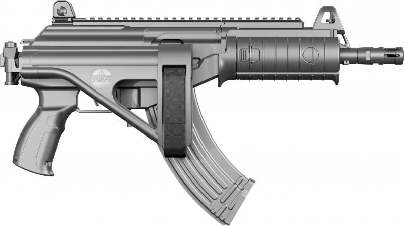 IWI GAP39SB Galil ACE Pistol 7.63x39 with Side-Folding Stabilizing Brace