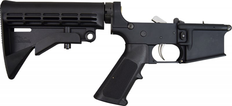 Anderson AR-15 Complete Lower Receiver w/ 6 Position Adjustable Stock
