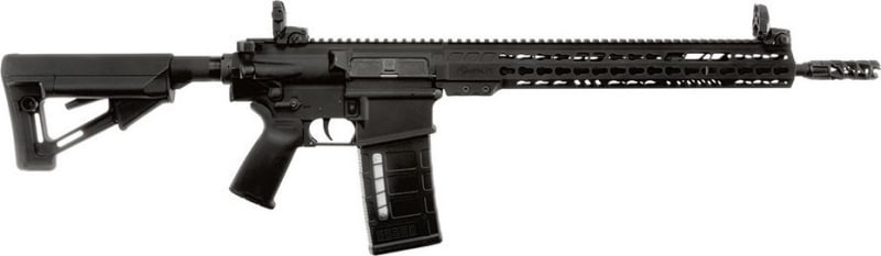"ArmaLite AR10TAC16 AR-10 Tactical Rifle Semi-Auto 308 Winchester/7.62 NATO 16"" FS 25+1 MBUS Magpul STR Hard Coat Anodized/Phosphate"