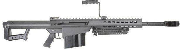 """Barrett 82A1-CQ 50 BMG w/ 20"""" Fluted Barrel Black - 13318"""