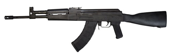 "Century Arms RI3289-N C39V2 Poly Tactical 16.5"" Milled Receiver AK-47 rifle."