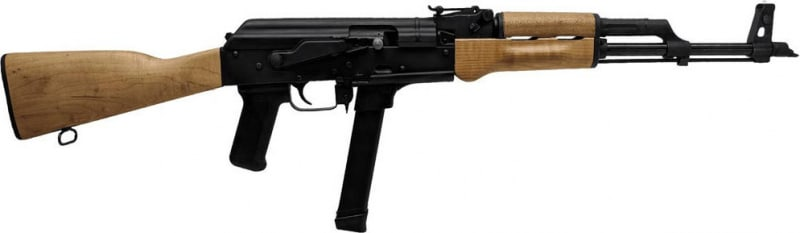 "Century Arms WASR-M AK-47 Style Semi-Auto rifle 9mm 33rd 17.5"" Barrel - Glock Mag Compatible - RI3765N"