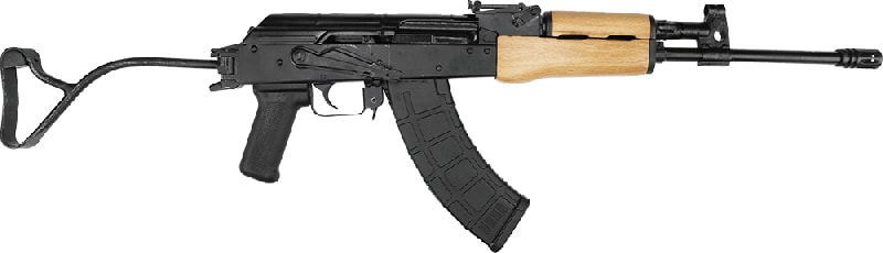"Century Arms WASR-10 Romanian AK-47 w/ Paratrooper Side Folding Stock 7.62x39 30rd 16"" Barrel - RI3996-N"