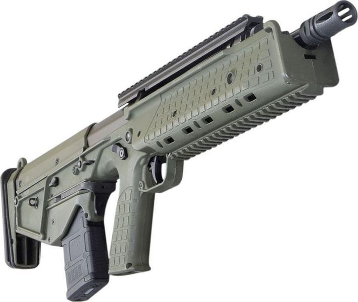 Kel-Tec Rifle Downward Ejecting Bullpup, 5.56 NATO Caliber, Green on Black Semi-Auto