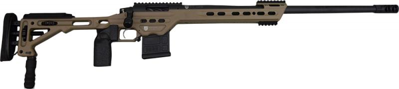 "MasterPiece Arms 308BATAN Bolt Action 308 Win/7.62 NATO 24"" 10+1 MasterPiece Arms Tactical Chassis Aluminum Tan Stock Tan Cerakote"