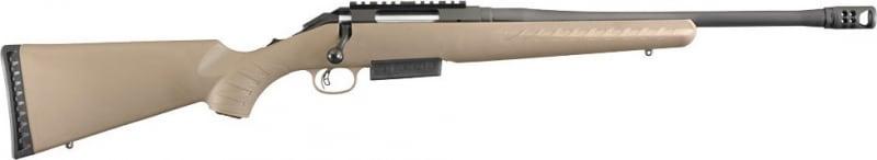 "Ruger 16950 American Ranch Bolt .450 Bushmaster 16.12"" 3+1 Synthetic Flat Dark Earth Stock Black"