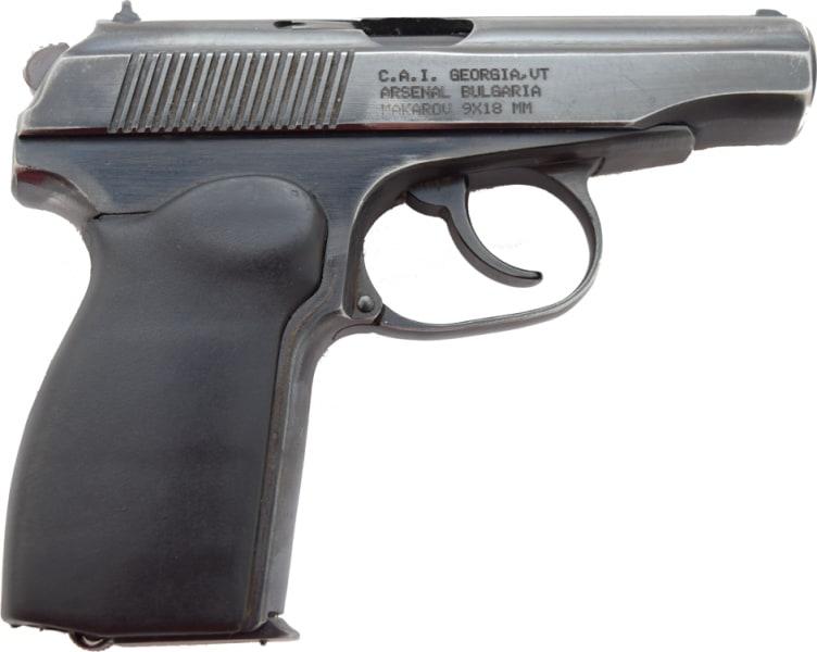 Bulgarian Makarov Pistol, Semi-Auto, 9x18mm - Surplus Good to Very Good Condition