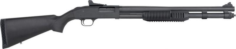 Mossberg 590 Pump 12GA Shotgun, 20in Barrel 3in 8+1 Synthetic Black Matte Blued - 50670