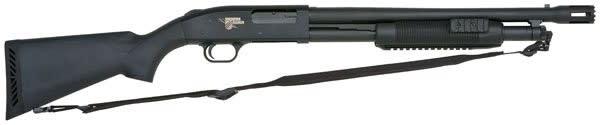 "Mossberg 500 12GA Shotgun, 18.5"" Blue Matte Thunder Ranch Syntethic - 52133"