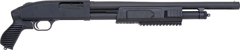 Mossberg JIC 500 Pump 12GA Shotgun, Synthetic Pistol Grip Black Matte Blued - 57340