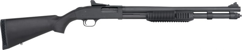 Mossberg 590 Pump 12GA Shotgun, 20in Barrel 3in 8+1 Synthetic Black Matte Blued - 50670