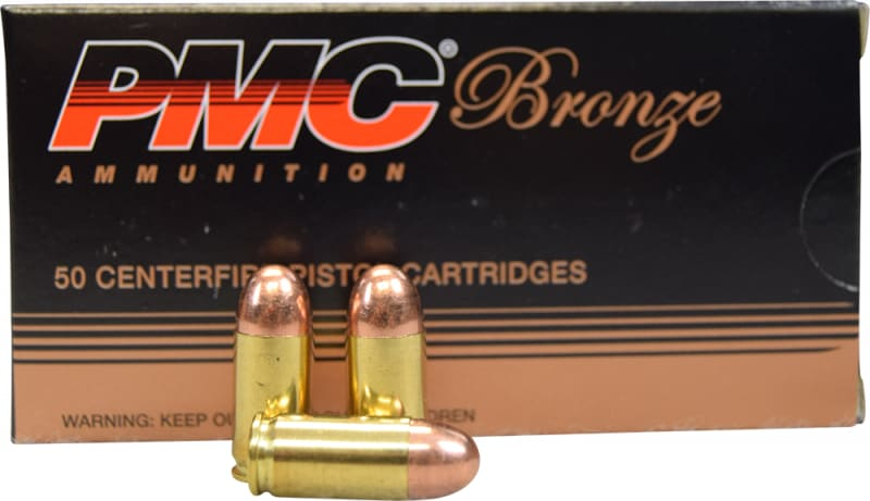 PMC 380A Bronze - .380 Automatic Colt Pistol, Full Metal Jacket, 90 GR, Brass, Boxer, N/C, Re-loadable - 50 Round Box