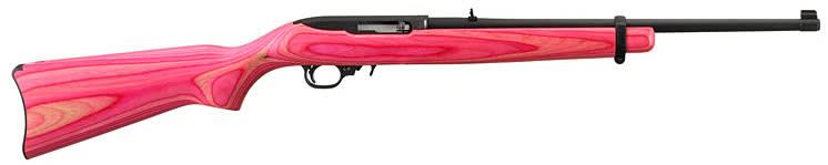 "Ruger 10/22 Carbine Blued / Pink Laminated Stock .22LR 18.5"" 10rd Rifle - 1184"