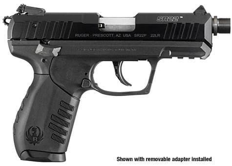Ruger SR22PBT .22 Cal Semi-Auto Pistol With Threaded Barrel 3604