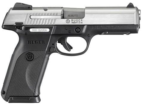 Ruger KSR45 .45 ACP Semi-Auto Handgun Stainless 3801