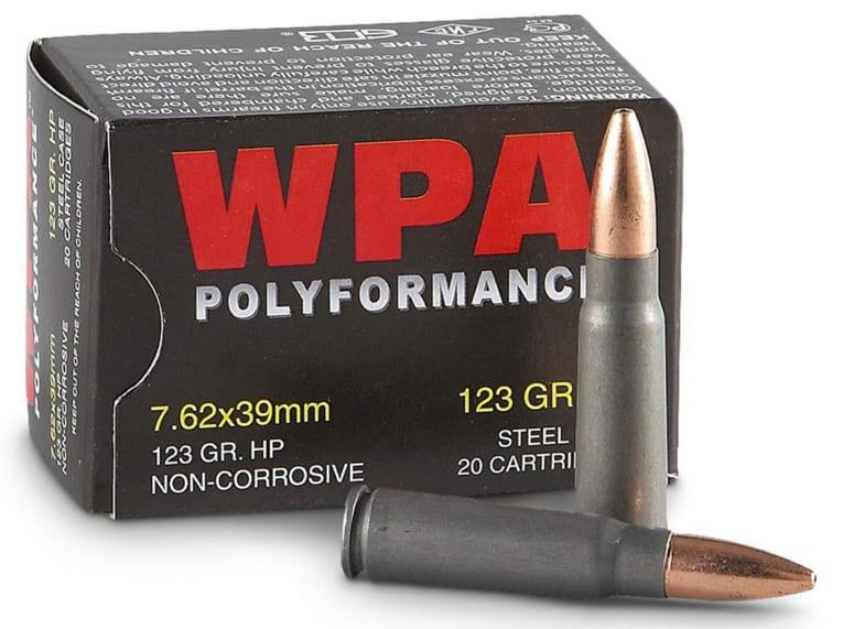 Wolf Polyformance 7.62x39 123gr HP Ammo - 20rd Box