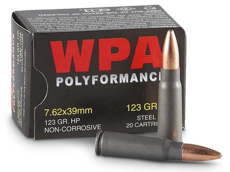 Wolf Polyformance 7.62x39 123 GR HP Ammo - 1000rd Case