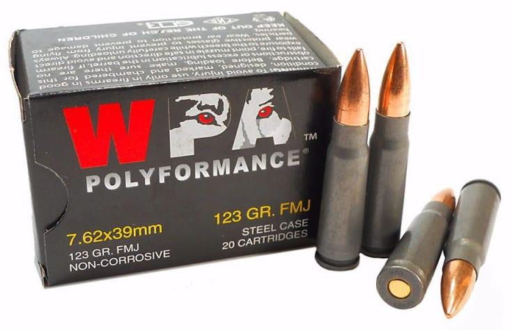 Wolf Polyformance 7.62x39 123 GR FMJ Ammo - 1000rd Case