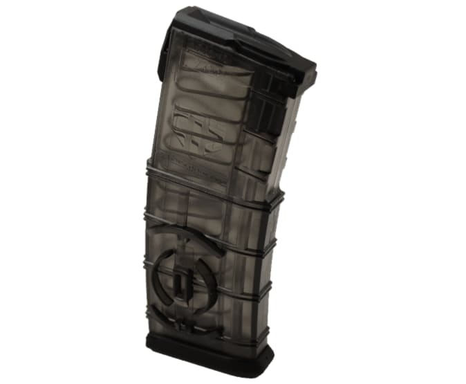 ETS AR-15 30rd Mag with Coupler Feature - Translucent Smoke - AR15-30C