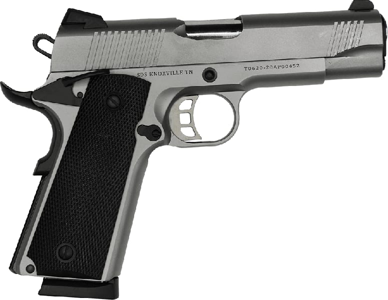 "Tisas 1911 Carry SS45 Duty 4.25"" Barrel 8+1 .45ACP - Stainless Steel"