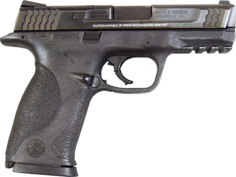 """Smith & Wesson M&P 45 w/Night Sights .45 ACP 4"""" Barrel & (1) 10d Mag Very Good - 150706"""