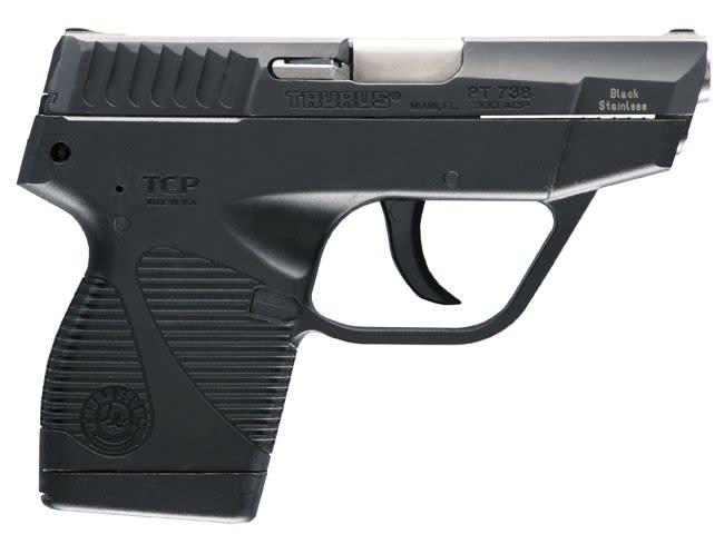 Taurus Model 738 TCP, .380 ACP Semi-Auto Pistol, 6rd+1 - Black - Model 738BSS