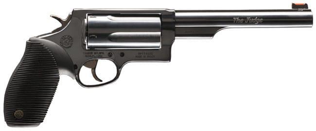 "Taurus .2441061 Magazine Judge Tracker Magazine DA/SA 410/45LC 6.5"" 5rd FOF Black Ribber Grip Matte Black"